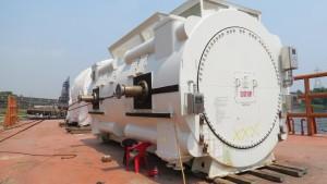 1-receiving-of-gas-tarbie-generator-on-bargedeck